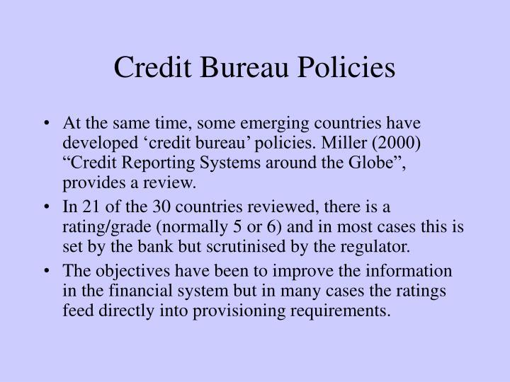 Credit Bureau Policies