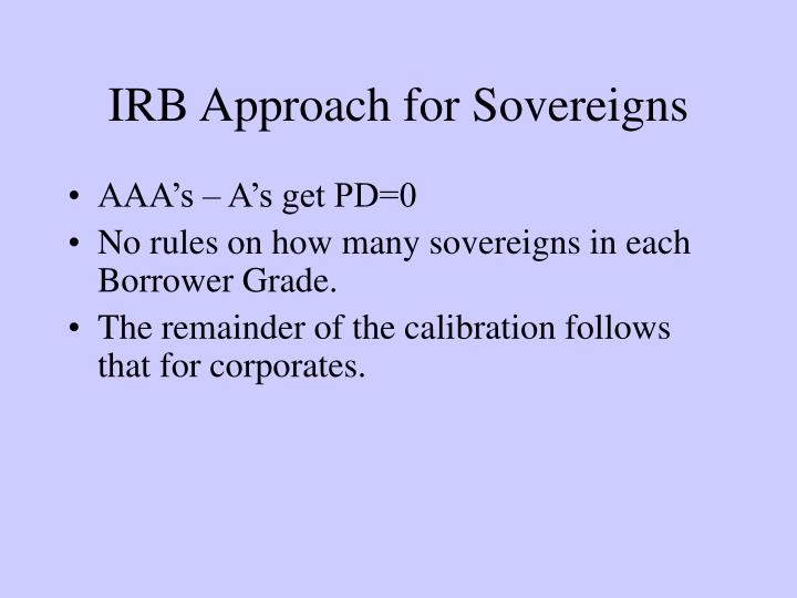 IRB Approach for Sovereigns