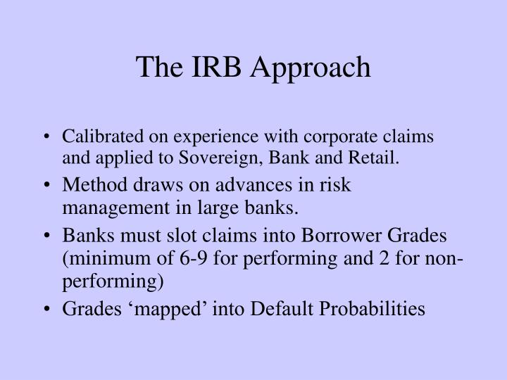 The IRB Approach