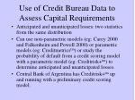 use of credit bureau data to assess capital requirements