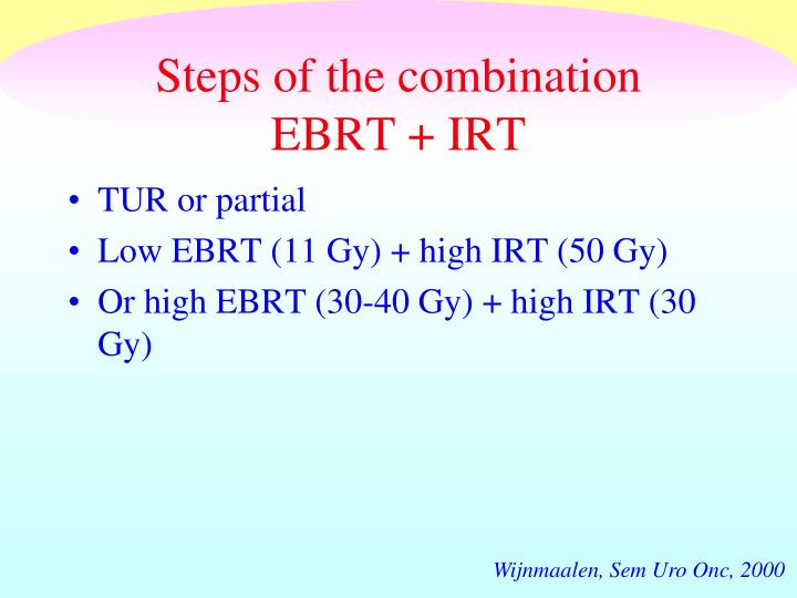 Steps of the combination