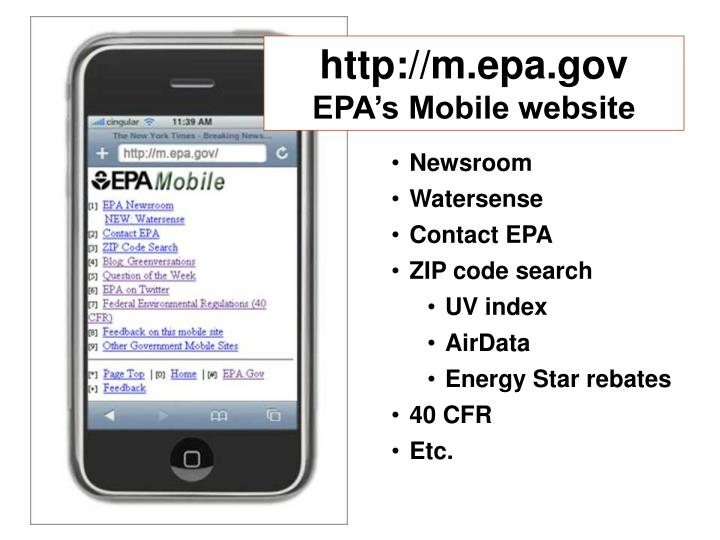 http://m.epa.gov
