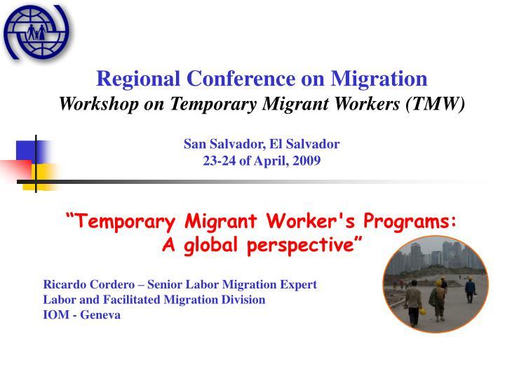 Regional Conference on Migration