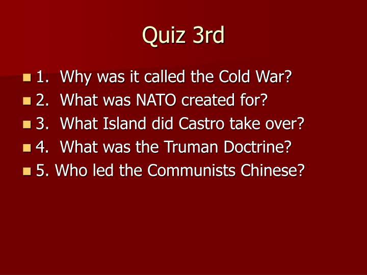 Quiz 3rd