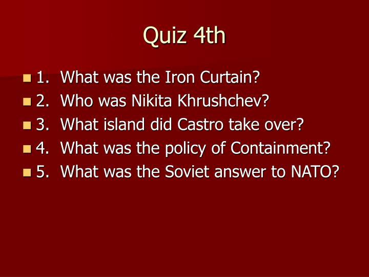 Quiz 4th