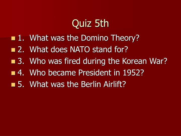 Quiz 5th