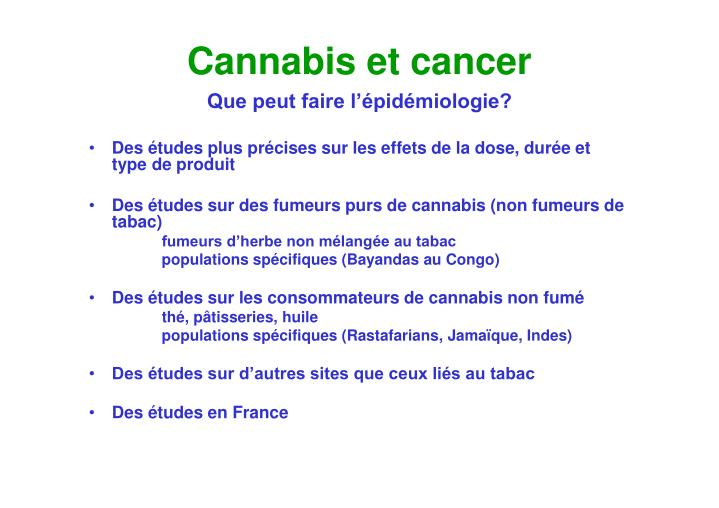 Cannabis et cancer