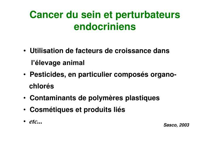 Cancer du sein et perturbateurs