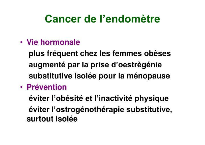 Cancer de l'endomètre