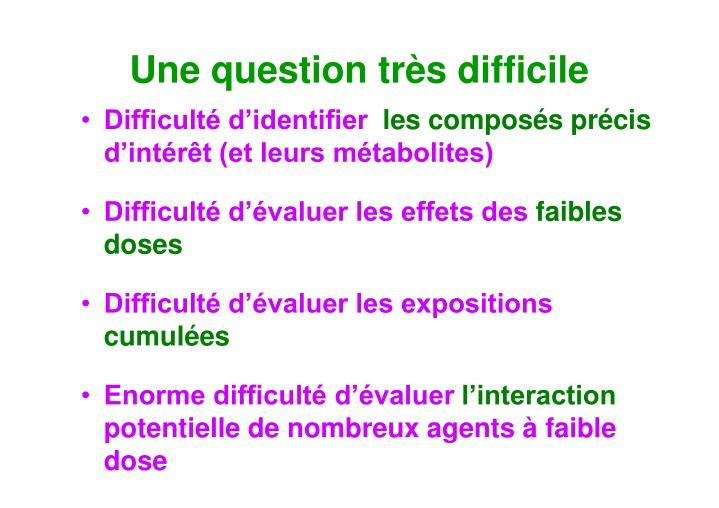 Une question très difficile