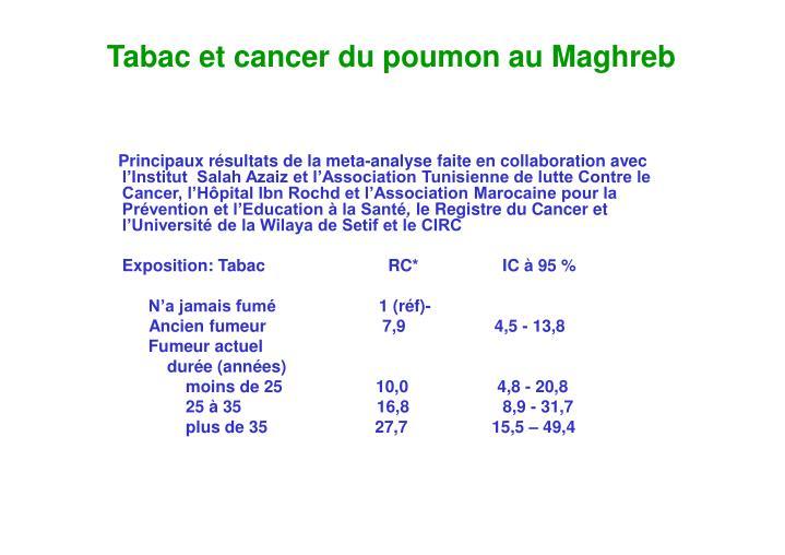 Tabac et cancer du poumon au Maghreb