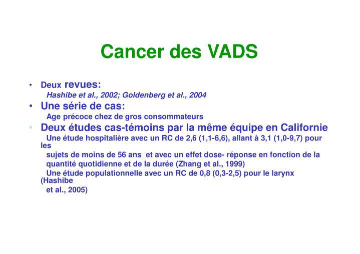 Cancer des VADS