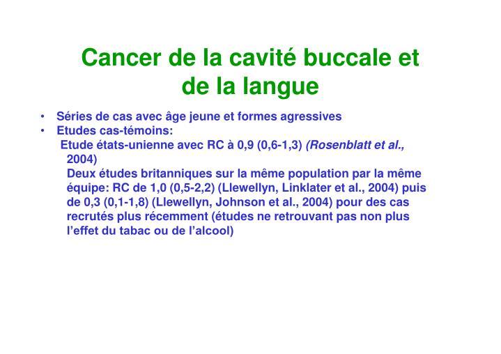 Cancer de la cavité buccale et