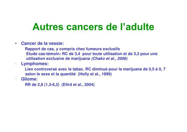 Autres cancers de l'adulte