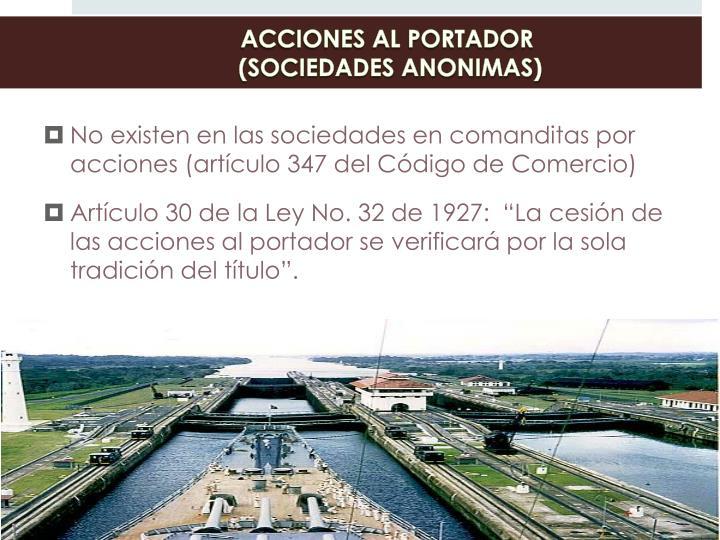 ACCIONES AL PORTADOR