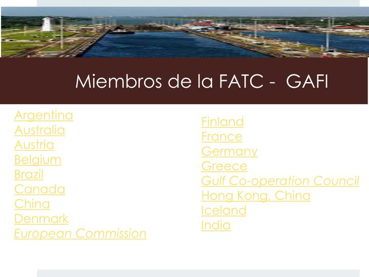 Miembros de la FATC - GAFI