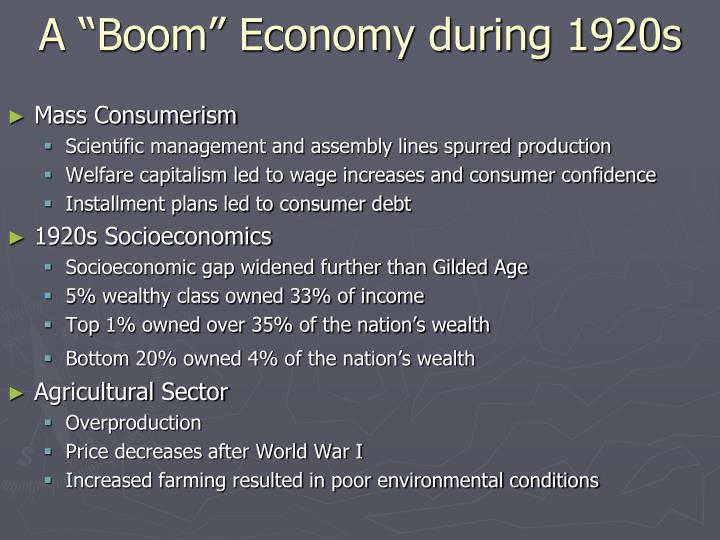 "A ""Boom"" Economy during 1920s"