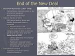 end of the new deal