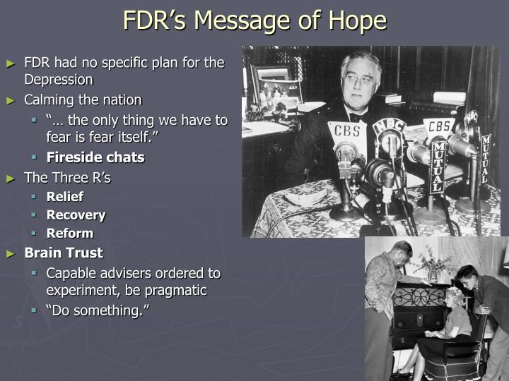 FDR's Message of Hope