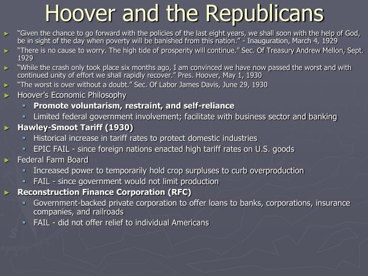Hoover and the Republicans
