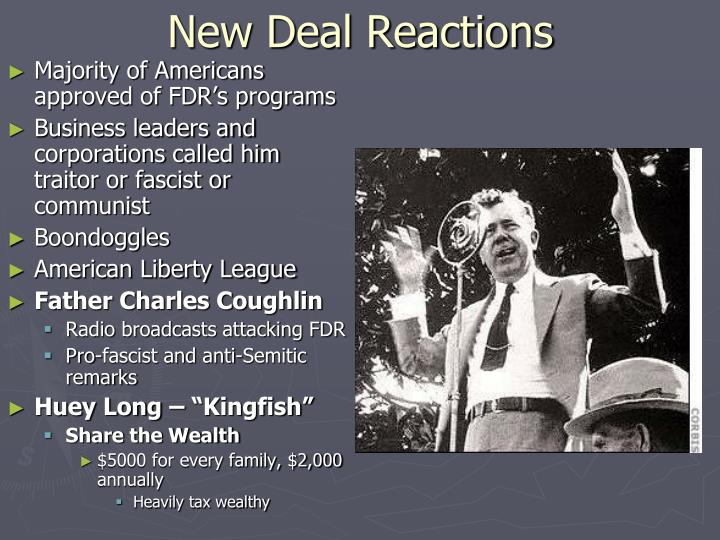 New Deal Reactions