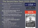 the second new deal 1935 1938
