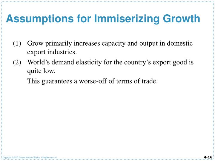Grow primarily increases capacity and output in domestic export industries.