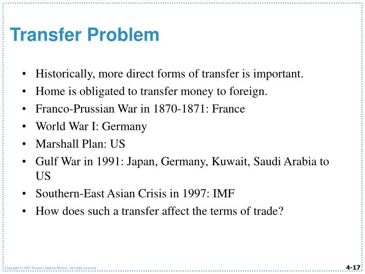 Historically, more direct forms of transfer is important.