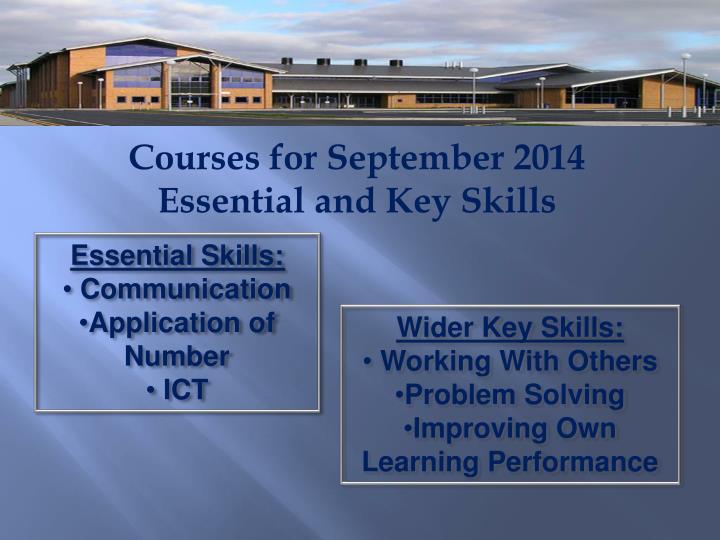 Courses for September 2014