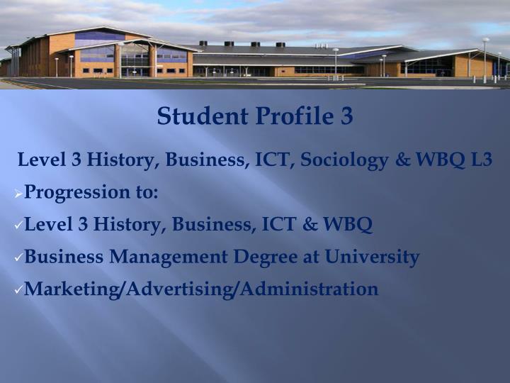 Student Profile 3