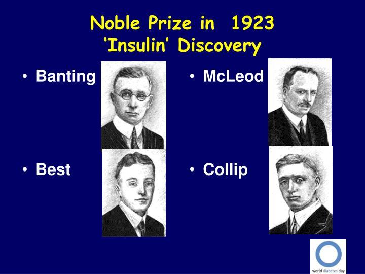 Noble Prize in  1923