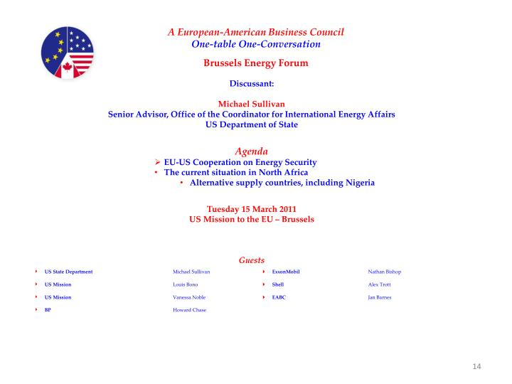 A European-American Business Council