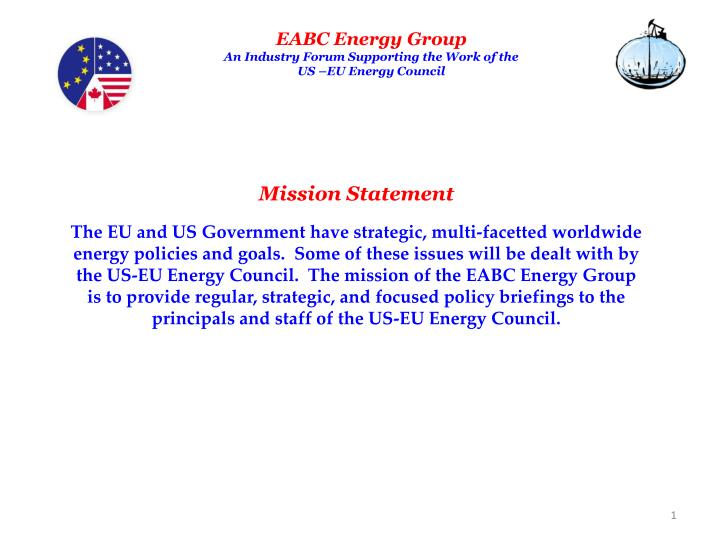 Eabc energy group an industry forum supporting the work of the us eu energy council