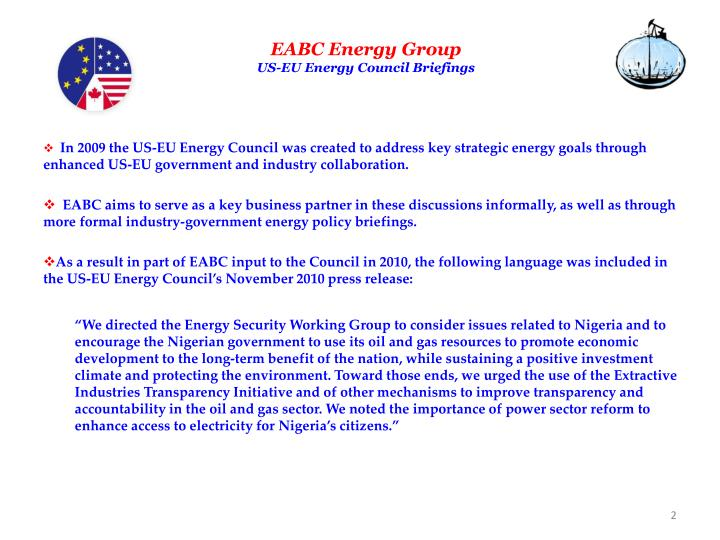 Eabc energy group us eu energy council briefings