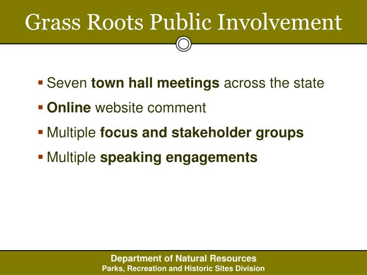 Grass Roots Public Involvement