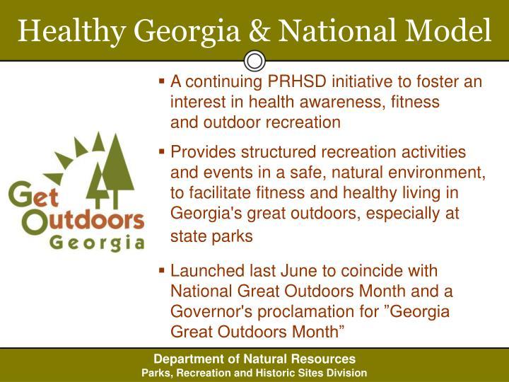 Healthy Georgia & National Model