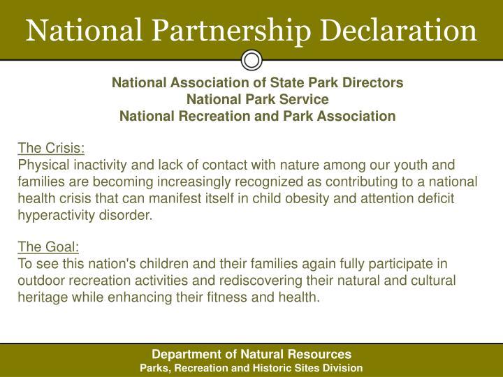 National Partnership Declaration