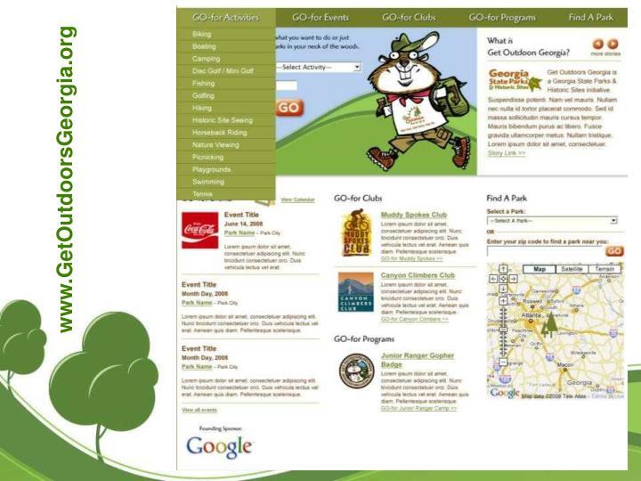 www.GetOutdoorsGeorgia.org