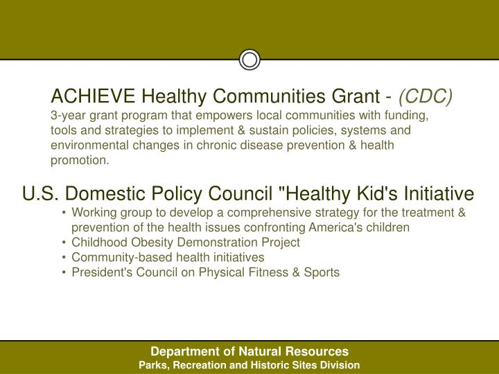 ACHIEVE Healthy Communities Grant -