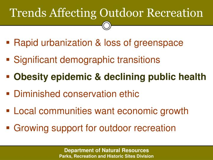 Trends Affecting Outdoor Recreation