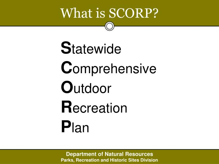 What is SCORP?