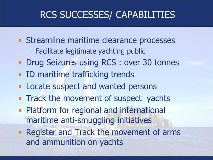 RCS SUCCESSES/ CAPABILITIES