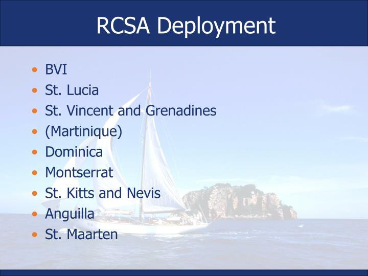 RCSA Deployment