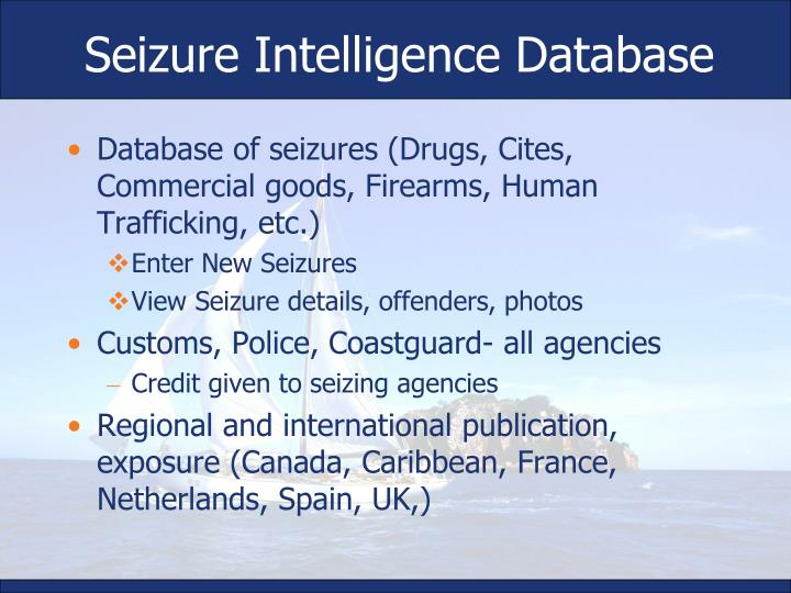 Seizure Intelligence Database