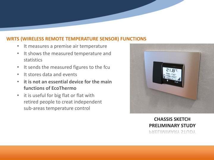 WRTS (WIRELESS REMOTE TEMPERATURE SENSOR) FUNCTIONS