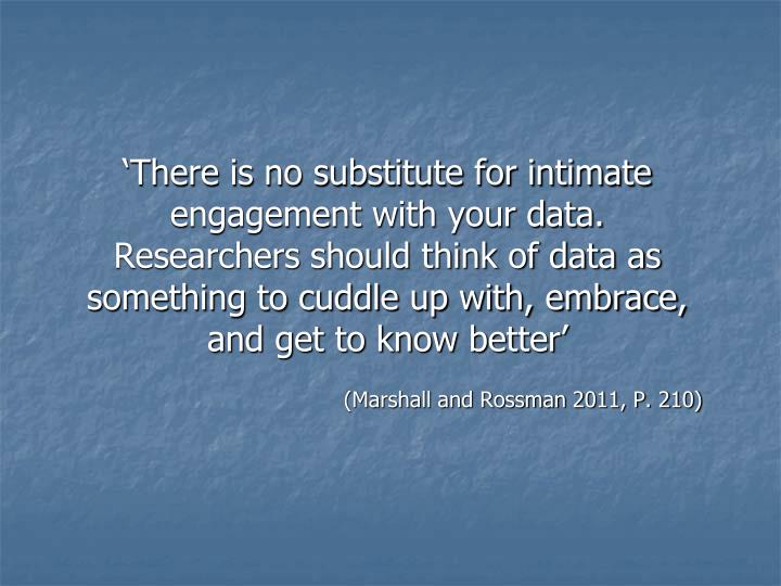 'There is no substitute for intimate engagement with your data. Researchers should think of data as something to cuddle up with, embrace, and get to know better'