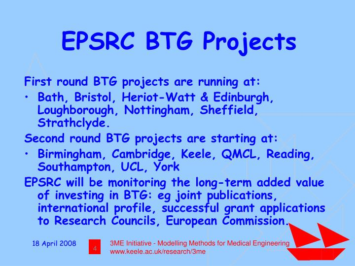 EPSRC BTG Projects