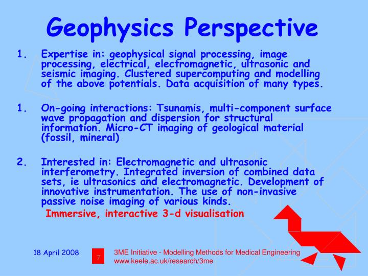 Geophysics Perspective