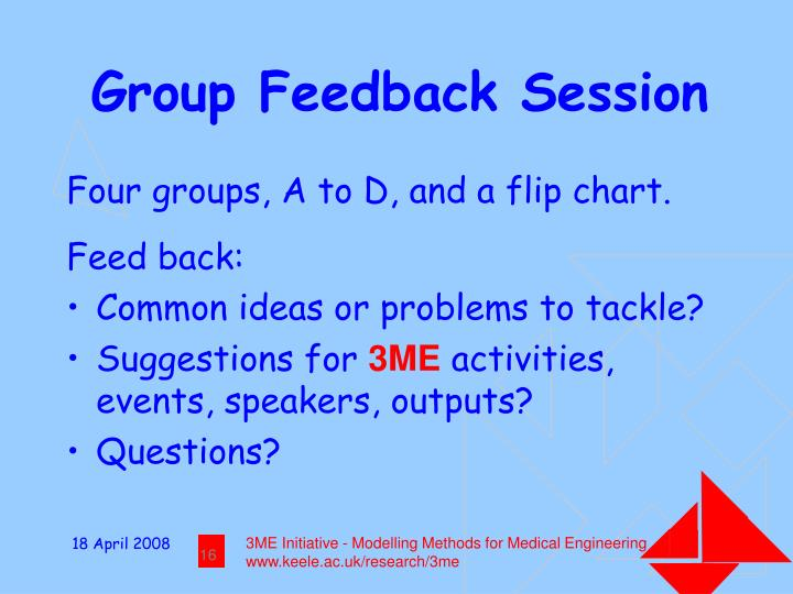 Group Feedback Session