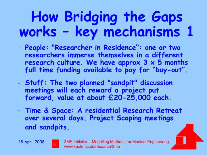 How Bridging the Gaps works – key mechanisms 1
